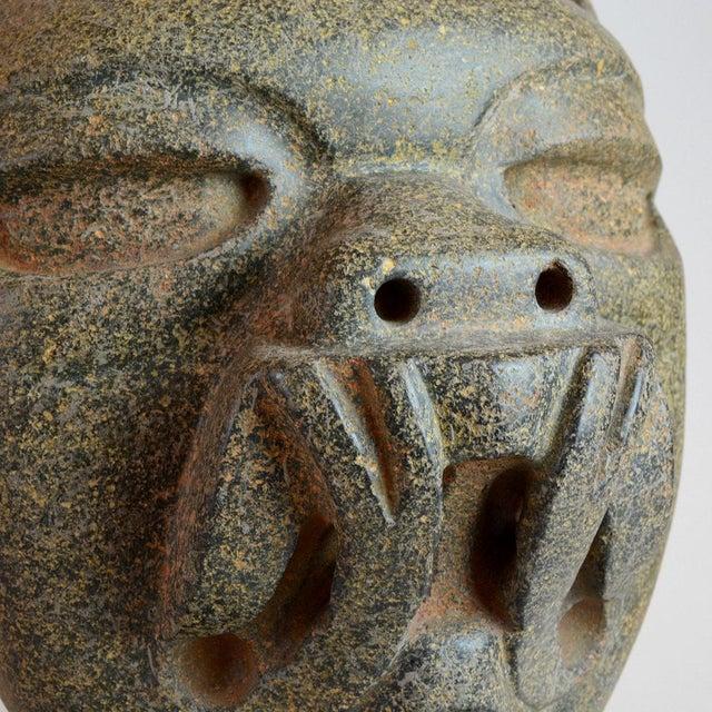 Americana Olmec Stone Jaguar Head For Sale - Image 3 of 6