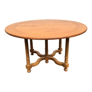 Baker Birch Wood Dining Table For Sale