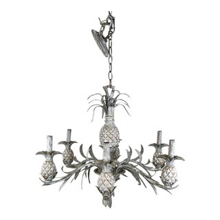 6 Arm Pineapple Chandelier For Sale
