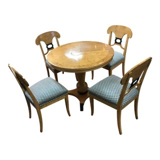 Swedish Art Deco Biedermeier Table and Chairs Dining Set
