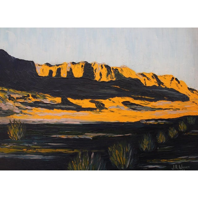 Vintage Modern Impressionist Oil Painting 1950s - Image 3 of 4
