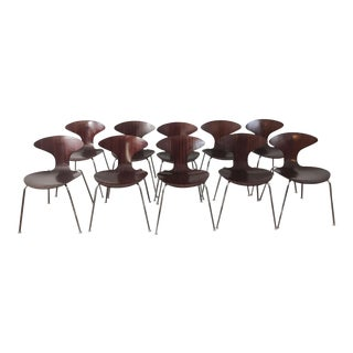 Bernhardt for Orbit Zebrawood Dining Chairs - Set of 10