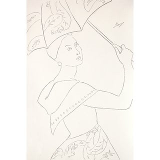 "Sarah Myers ""Rain or Shine"" Charcoal Drawing For Sale"