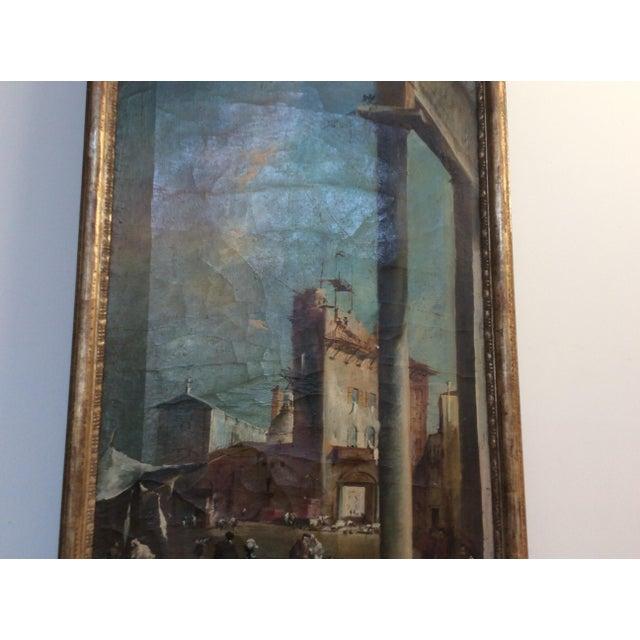 18th Century Italian Guardi Style Painting For Sale In San Antonio - Image 6 of 11