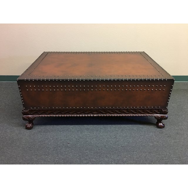 Design Plus Gallery presents this classic studded leather cocktail table. Ralph Lauren Home Dalton has all the details of...