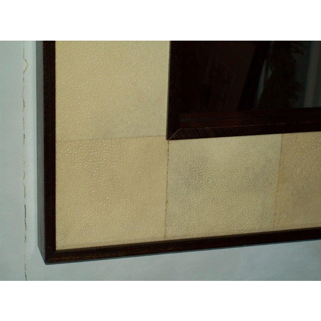 Mid 20th Century Custom Rectangular Shagreen Mirror For Sale - Image 5 of 6