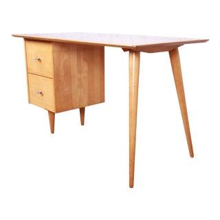 Paul McCobb Planner Group Mid-Century Modern Maple Desk, 1950s For Sale