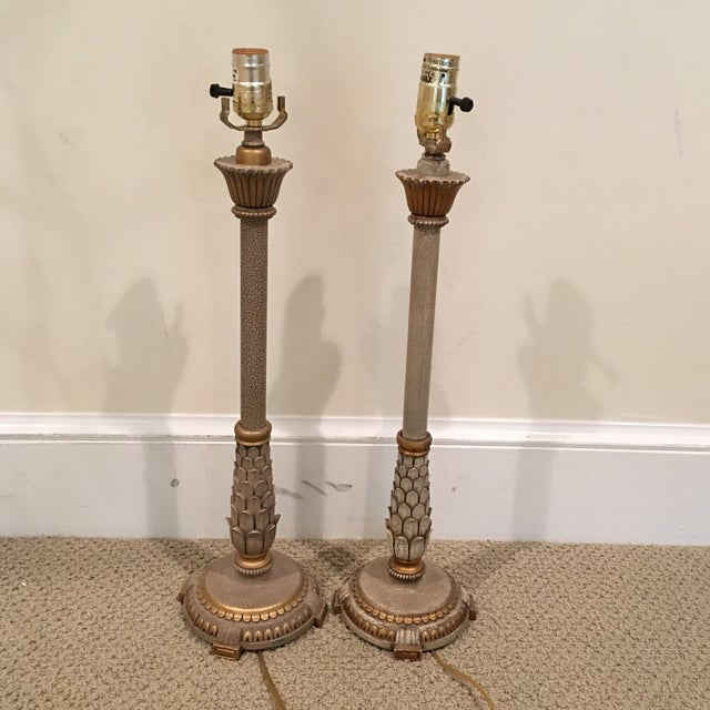Gilt Candlestick Lamps - A Pair - Image 2 of 8