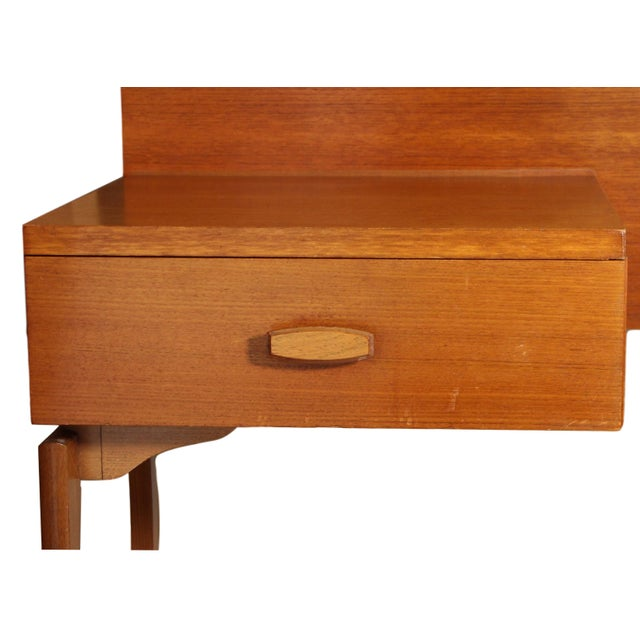 Brown Mid Century Teak Queen Size Headboard by G Plan For Sale - Image 8 of 11