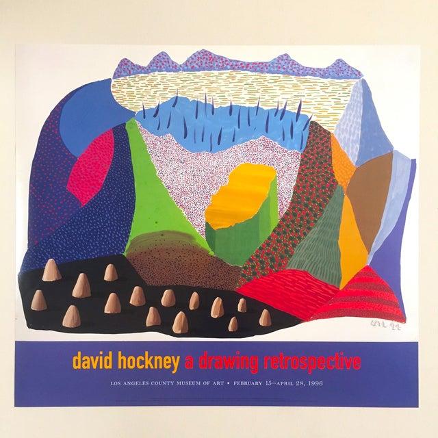 Vintage 1996 David Hockney Original Lithograph Lacma Exhibition Pop Art Poster For Sale - Image 10 of 11