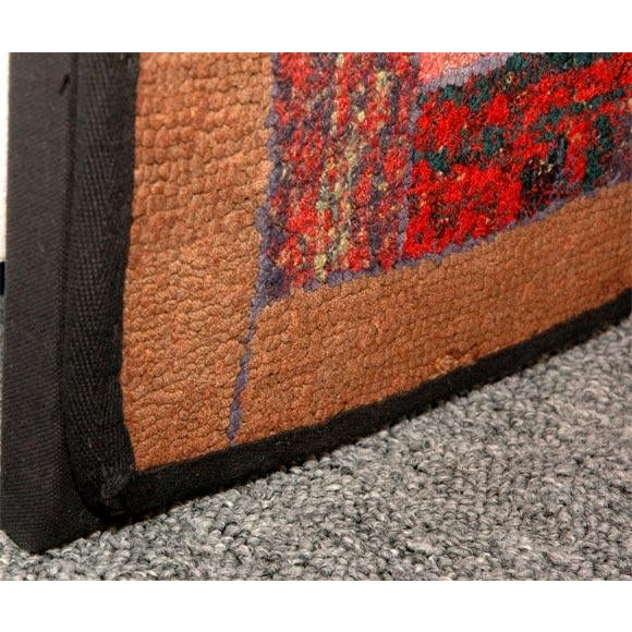 1930s Mounted Blocks Hand-Hooked Rug For Sale - Image 4 of 7