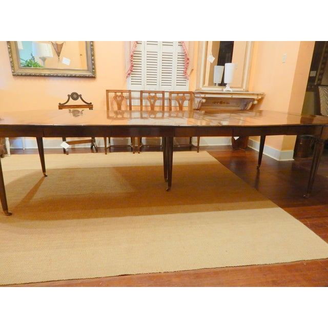 Brown French Walnut Extension Dining Table For Sale - Image 8 of 12