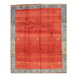 Pasargad Ny Genuine Persian Gabbeh Rug - 8′11″ × 10′11″ For Sale