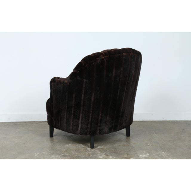 Furry Lounge Chair with Ottoman - Image 5 of 11