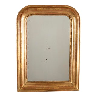 19th Century Louis Philippe Gilt Wood Mirror For Sale
