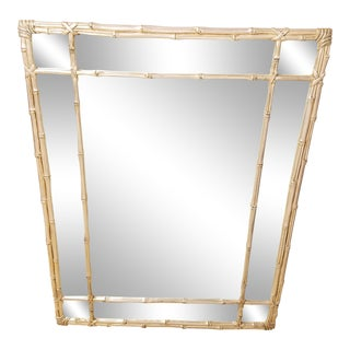 Carvers Guild Silver Gilt Faux Bamboo Mirror For Sale