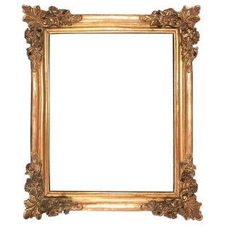 17th Century Louis XIV Large Giltwood Frame For Sale