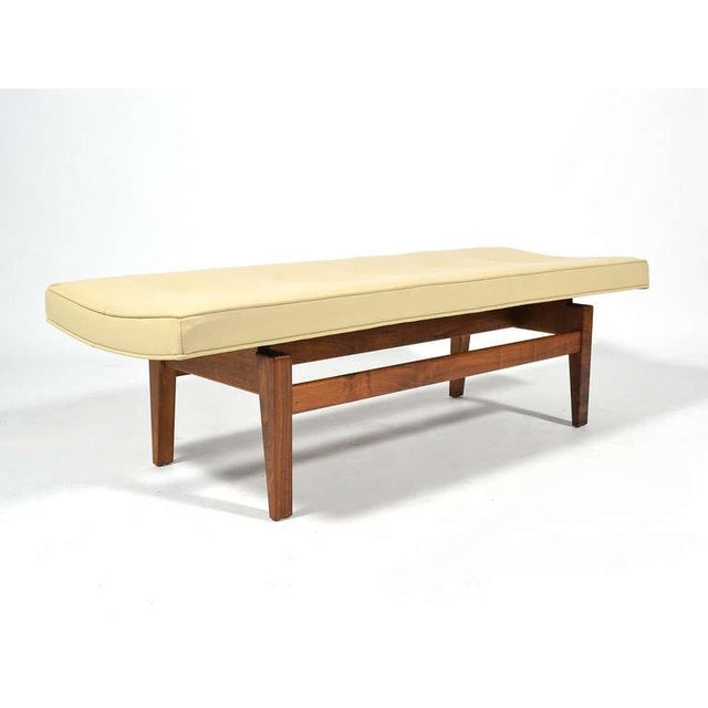 Jens Risom Floating Bench with Leather Seat - Image 5 of 9