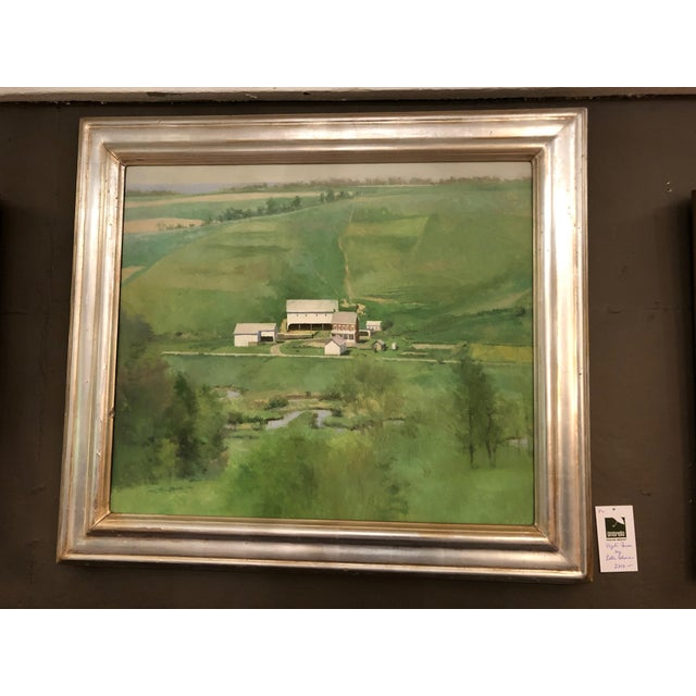 Farm Green Landscape Painting by Peter Schor For Sale In Philadelphia - Image 6 of 6