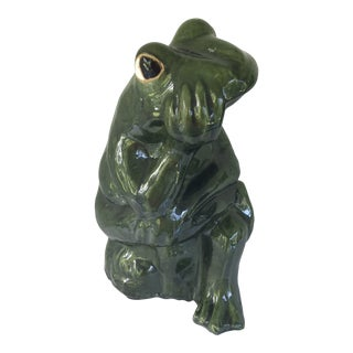 Majolica Terra Cotta Neiman Marcus Frog Fountain Made in Italy For Sale