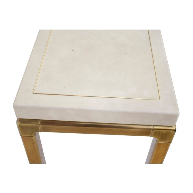 White Ming Style Brass and Ivory End Table by Mastercraft For Sale - Image 8 of 11