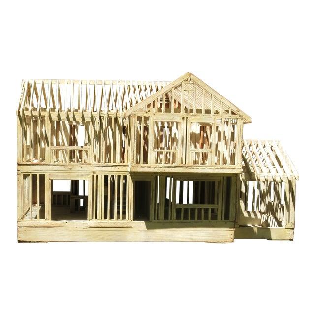 Vintage Architectural Model Wood House For Sale