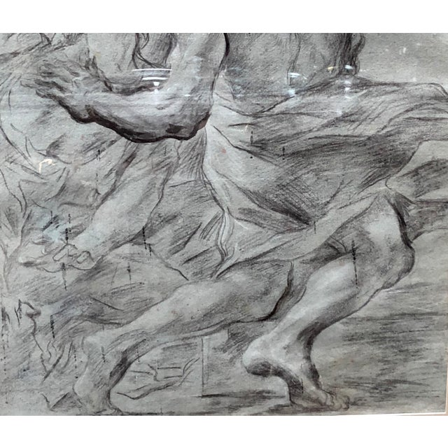 """Baroque Italian 17th Century Painter g.b. Beinaschi, """"Study of Figures"""" For Sale - Image 3 of 9"""
