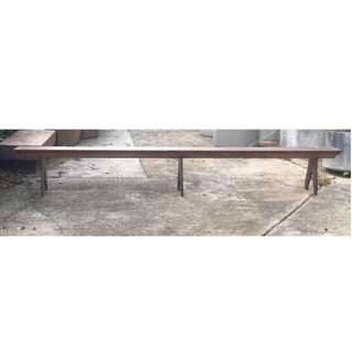 11' Long Primitive 1800's Rustic Church Bench Preview