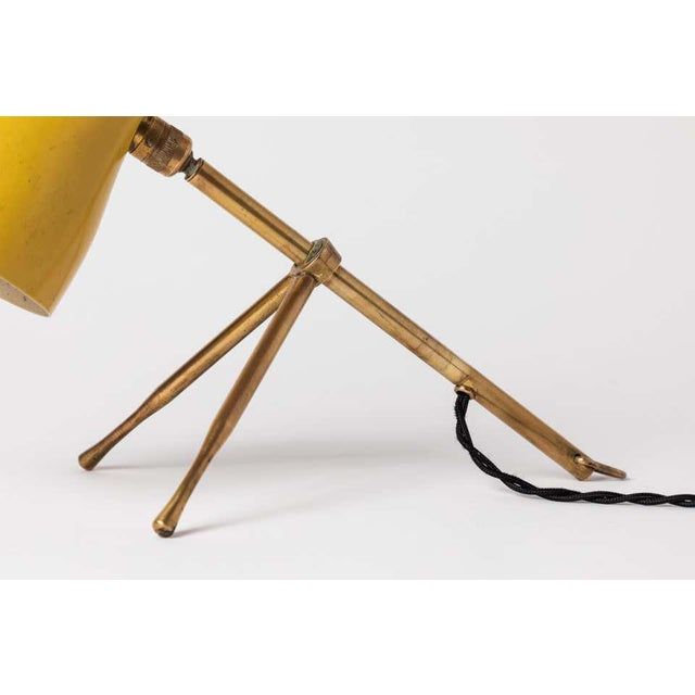 """1950s Giuseppe Ostuni """"Ochetta"""" Yellow Wall or Table Lamp for O-Luce For Sale - Image 11 of 13"""
