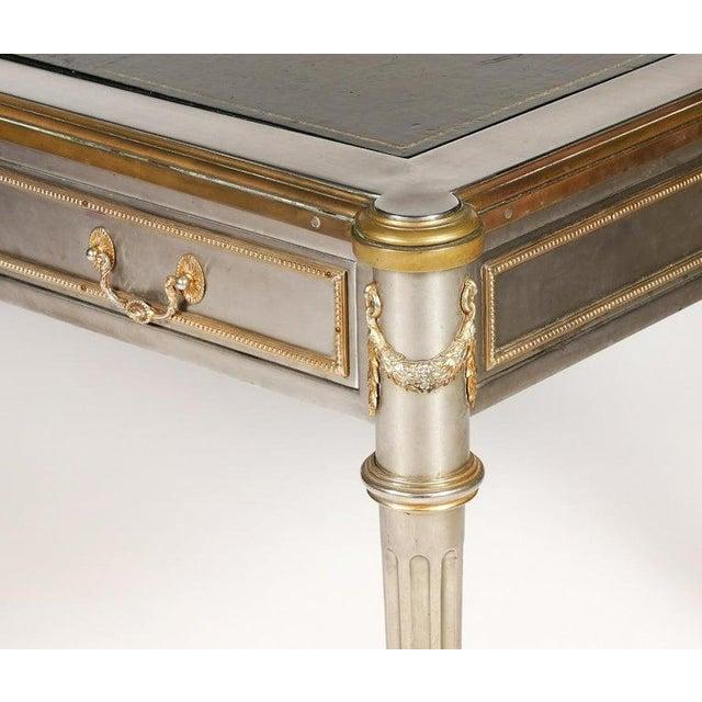 Mid-Century Modern John Vesey Mid-Century Modern Desk or Bureau Plat. Steel and Bronze For Sale - Image 3 of 12