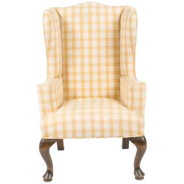 Brown 1970s Vintage Children's Wing Chair For Sale - Image 8 of 8