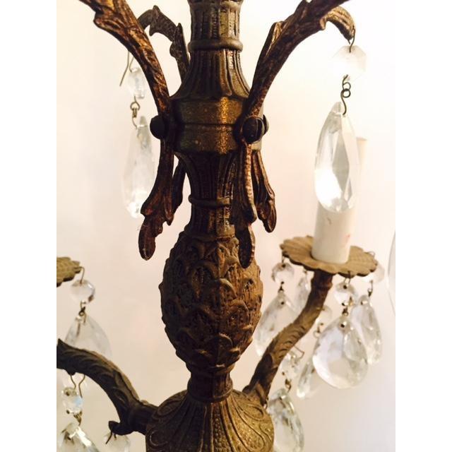 Victorian Antique Brass Pineapple Chandelier - Image 5 of 6
