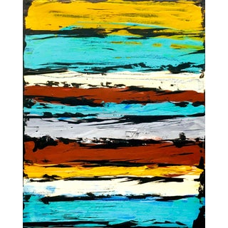 """""""South by West Oak Creek"""" Contemporary Southwestern Original Abstract Acrylic Painting by Tim Hovde For Sale"""