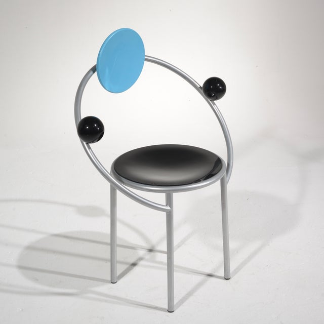 1980s Michele De Lucchi First Chair for Memphis, Milano For Sale - Image 5 of 13