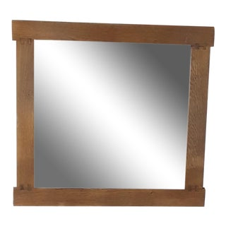 Arts and Crafts Handmade Solid Oak Wall Mirror