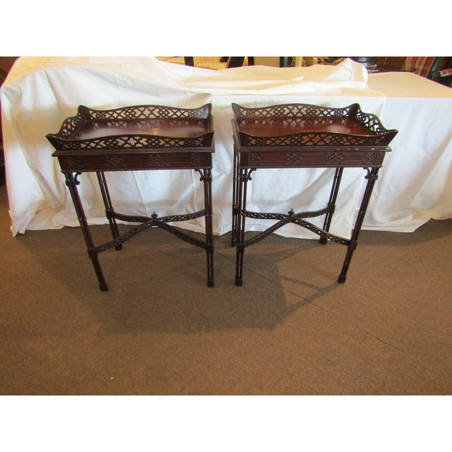 Master Craftsman Chippendale End Tables - A Pair - Image 2 of 4