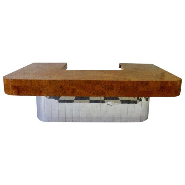 Paul Evans for Directional Burl Top City Scape Desk For Sale