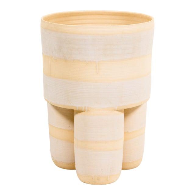 Ceramic Milking Stool Planter For Sale