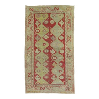 Antique Turkish Oushak Rug, 2'11'' X 5'2''