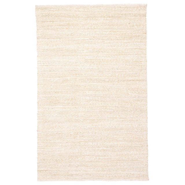 Jaipur Living Canterbury Handmade Solid White/ Beige Area Rug - 2′6″ × 4′ For Sale In Atlanta - Image 6 of 6