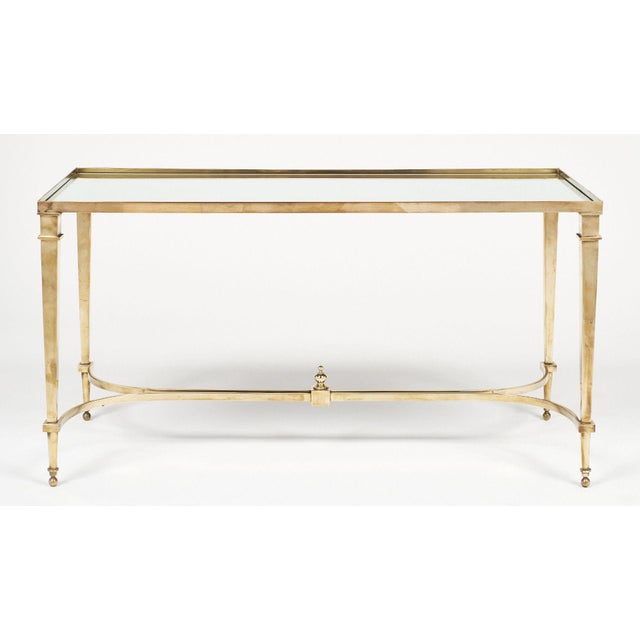1940s Art Deco Brass and Mirror Coffee Table For Sale - Image 5 of 11