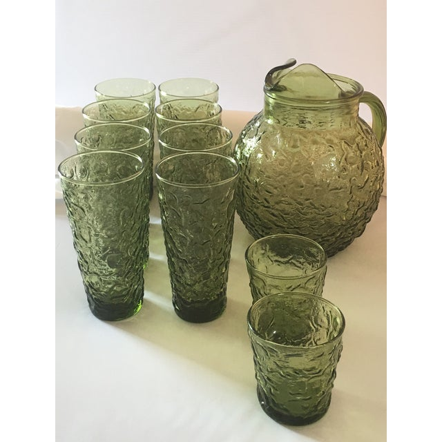 Vintage Avocado Green Lido Pitcher Set - Image 9 of 10