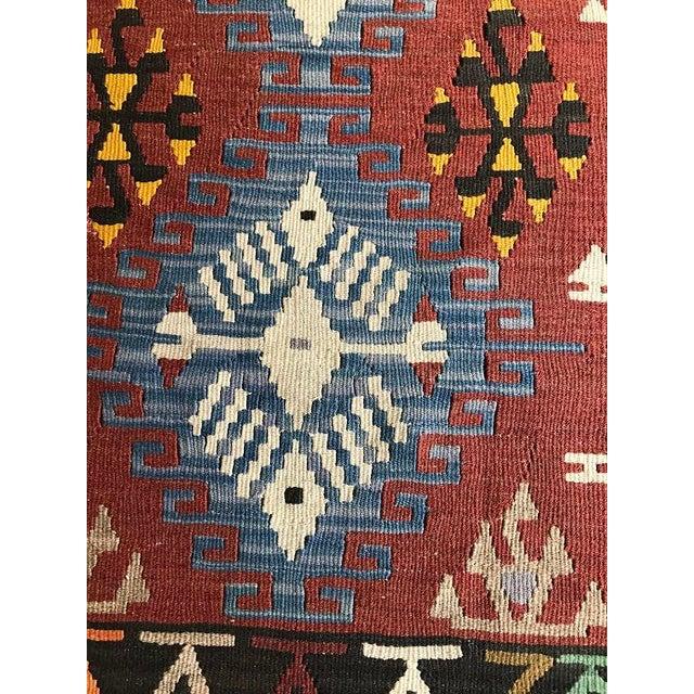 "Blue Vintage Anatolian Kilim - 5'8"" X 3'7"" For Sale - Image 8 of 9"