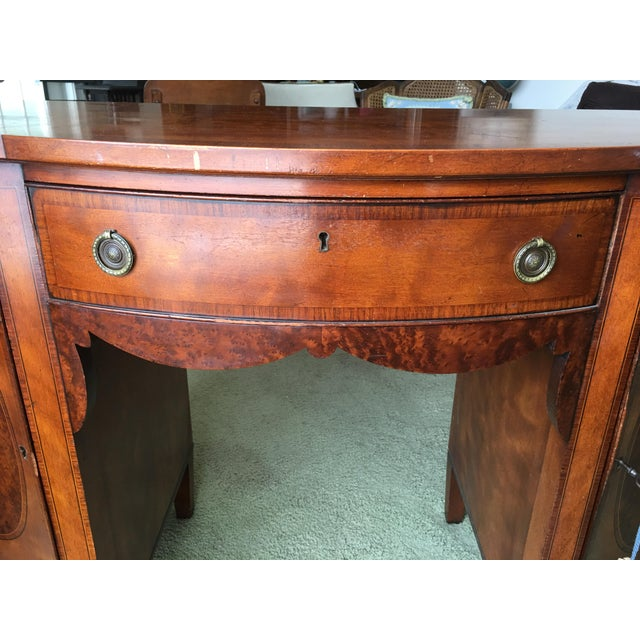 Brown Antique Royal Furniture Desk by Robert W. Irwin For Sale - Image 8 of - Antique Royal Furniture Desk By Robert W. Irwin Chairish
