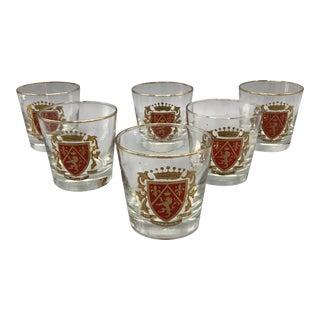 Mid Century Shot Glasses Set of Six For Sale