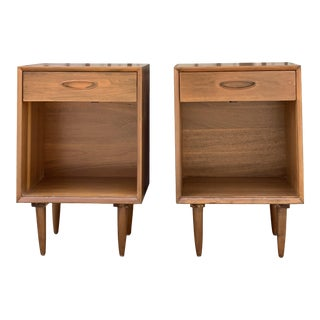Tall Standing Mid Century Nightstands For Sale