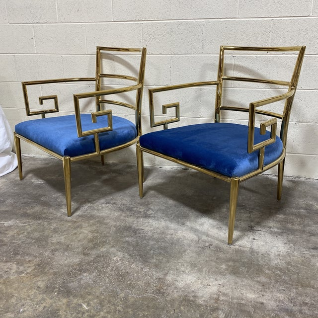 Kathy Ireland Gold Accent Chairs - a Pair For Sale - Image 10 of 10
