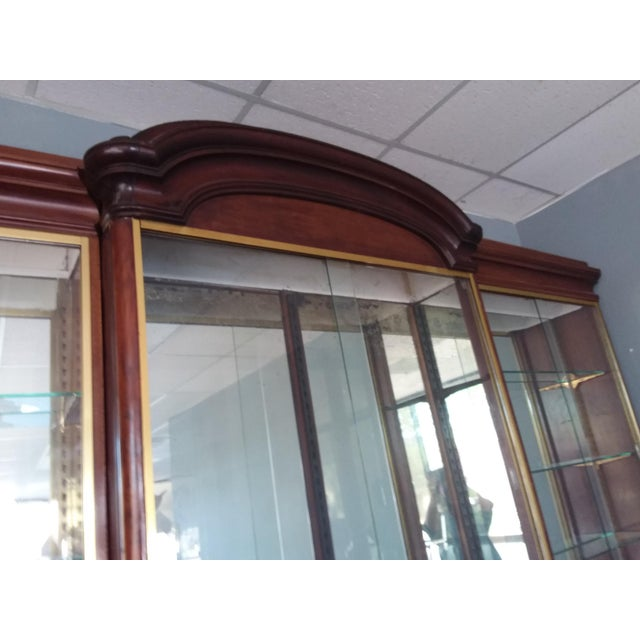Wood Antique Rosewood Shop Display Case With Miiror and Glass For Sale - Image 7 of 11