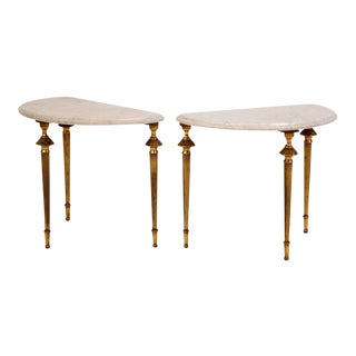 Midcentury French Marble Occasional Tables For Sale