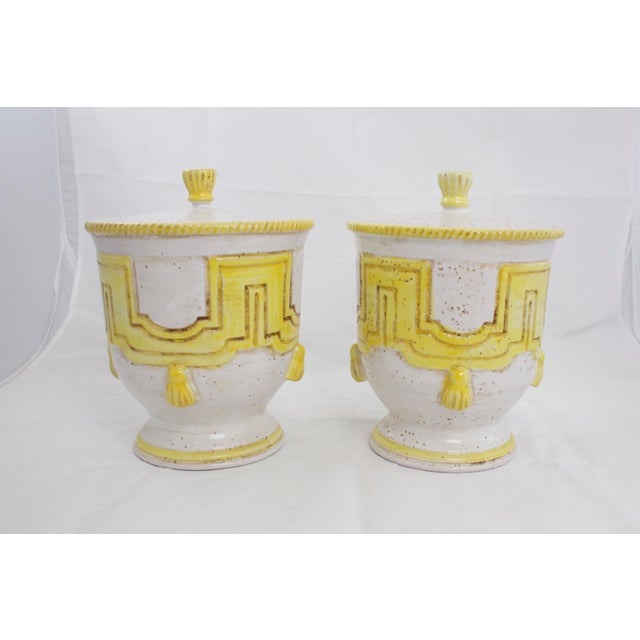 Large 1950s Italian Pottery Jars For Sale - Image 11 of 11